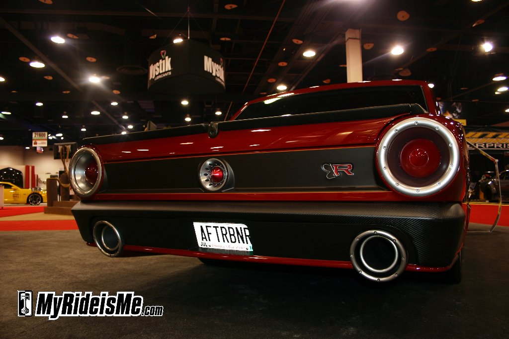 """Rear detail on the Ring Brothers' """"Afterburner"""" 1964 Ford Fairlane"""