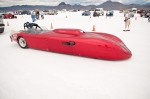 Land speed racing hot rod at Bonneville