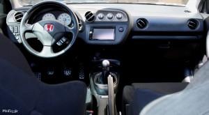 Interior shot of Jose's aggressive fitment Acura Integra or RSX