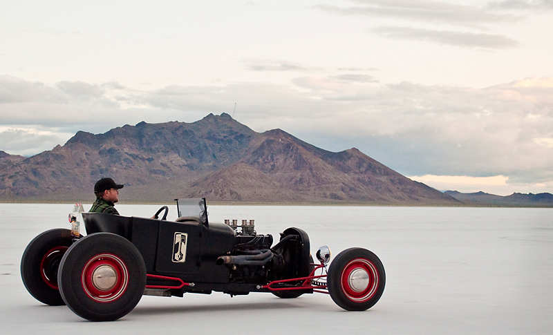 Pikesan's 1927 Model T Pinto powered Roadster at Bonneville