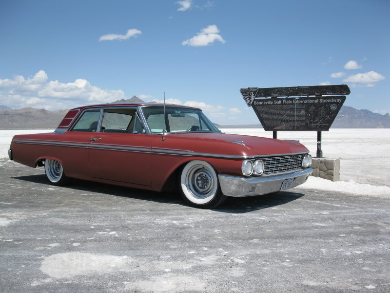 Speedweek 2008, Salt Flats, Bonneville, 1962 Galaxie, mild custom, rod and custom