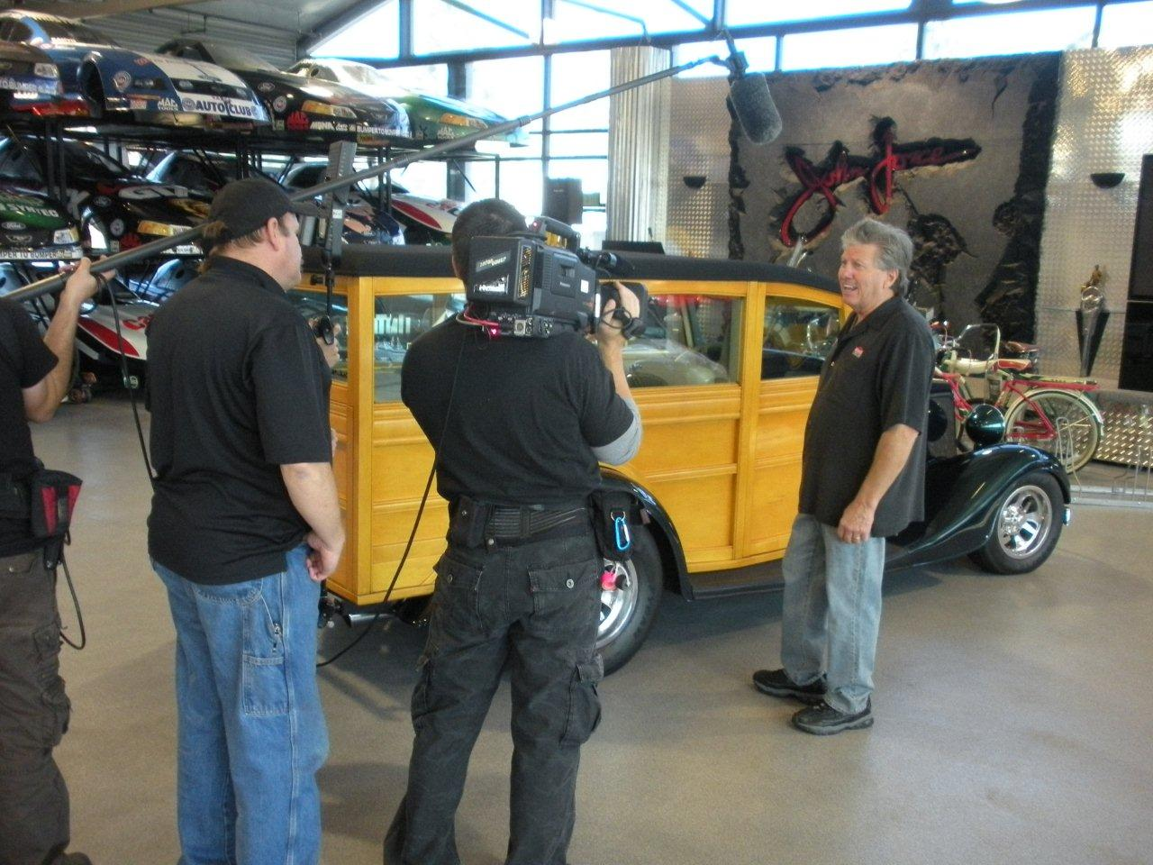 John Force show Hot Rod TV his own Woodie hot rod