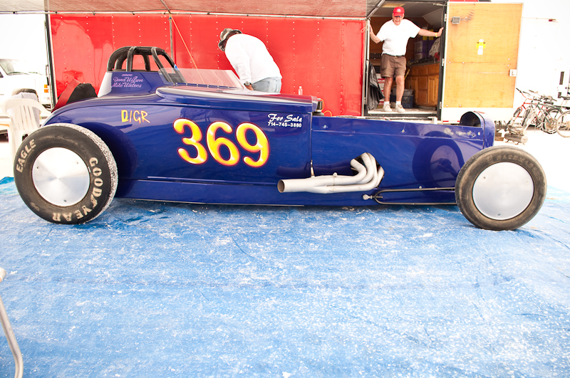 Mike Water's #369 roadster at Speedweek
