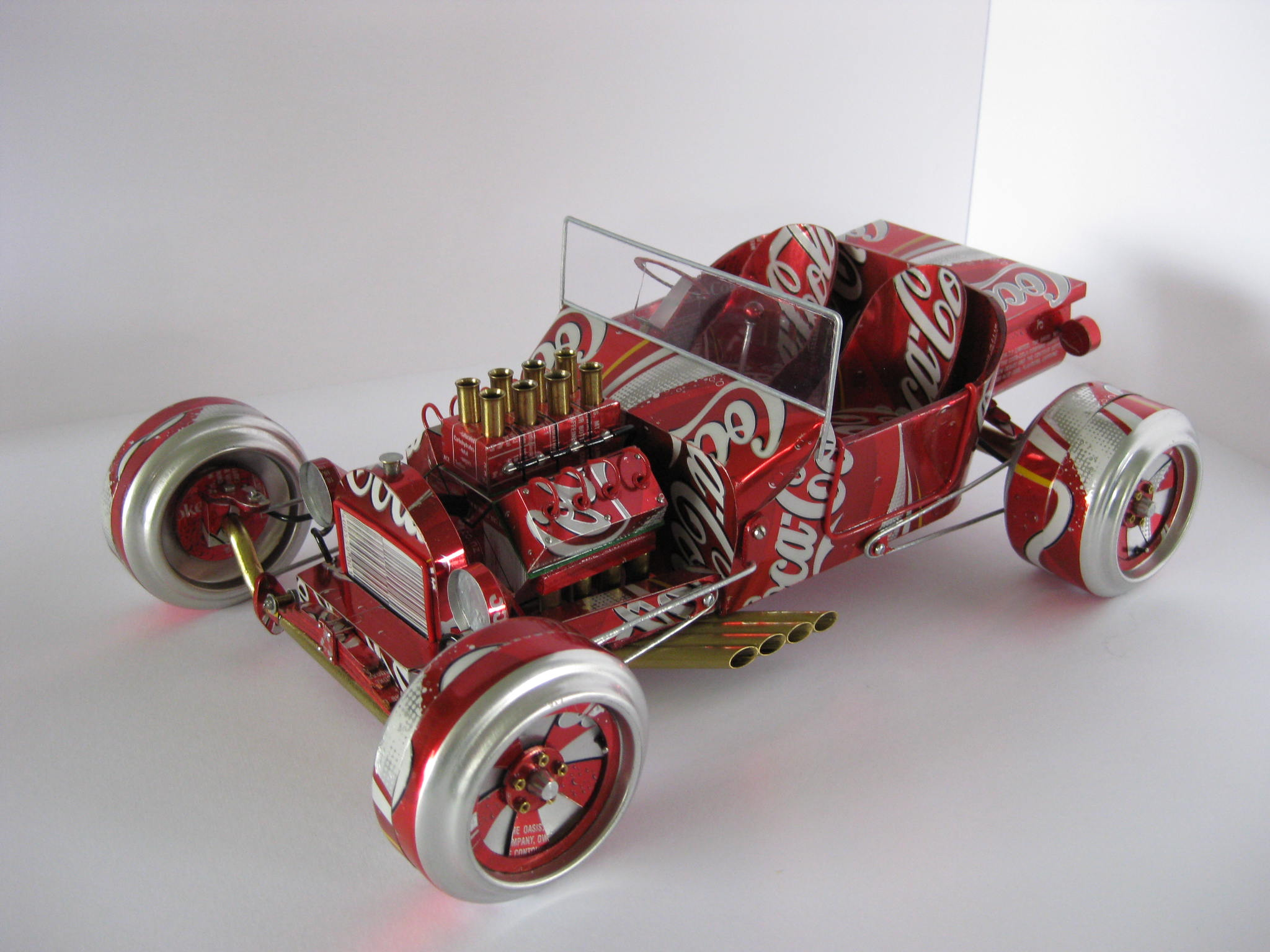 Coca Cola can hot rod roadster