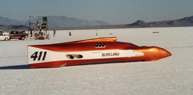 Gene and Tom Burkland designed and built this record holding land speed racer