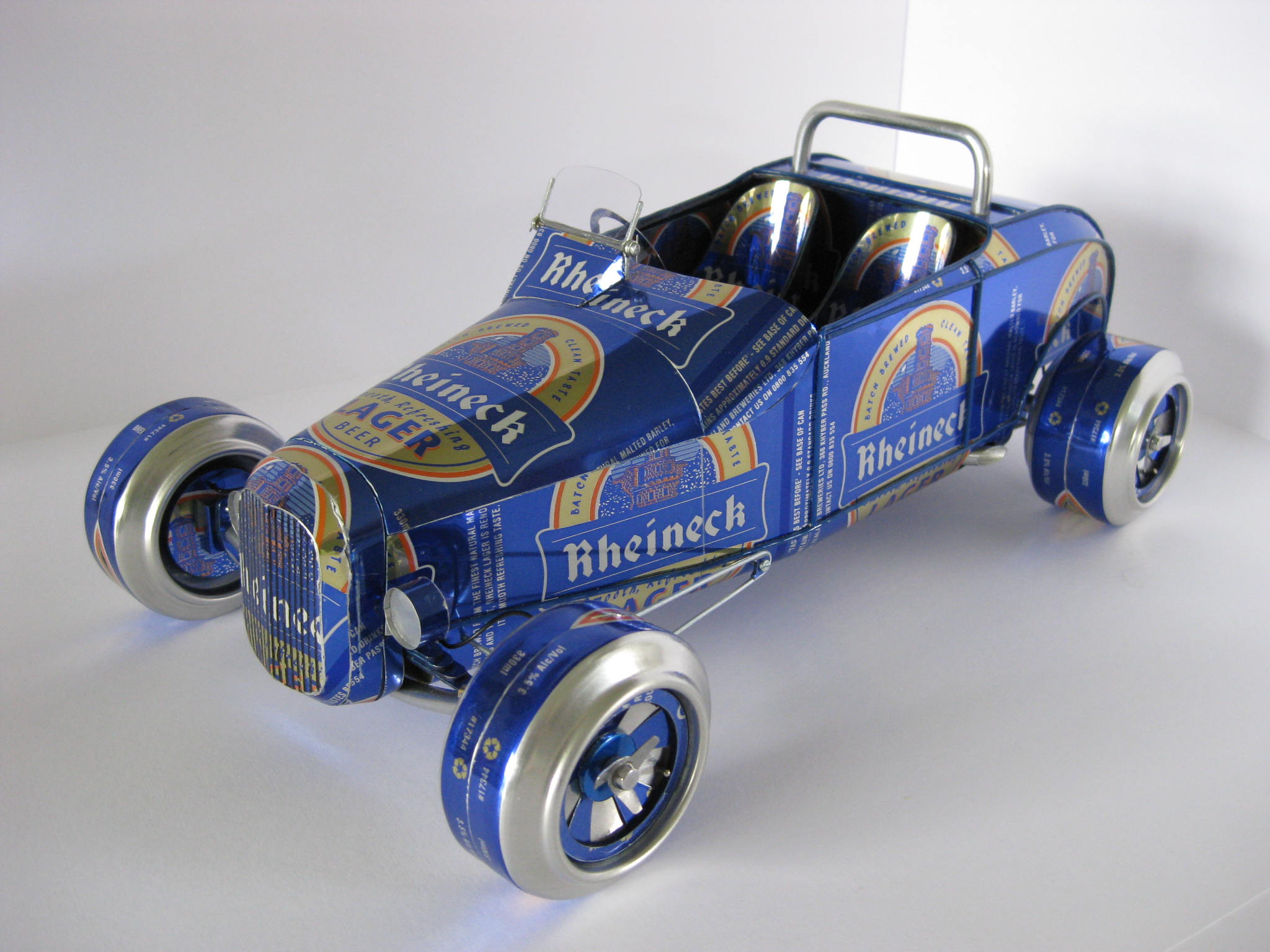 Hot Rod roadster made by Sandy Sanderson from a can