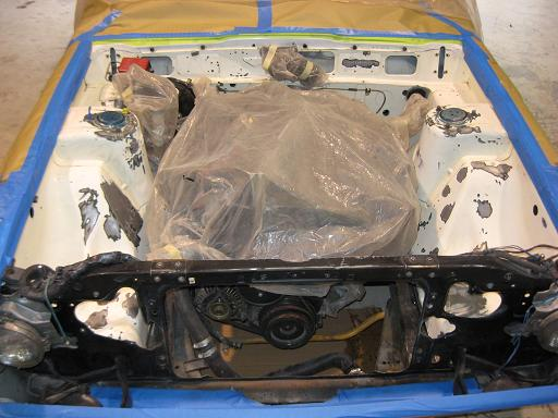1973 Nissan Skyline Kenmeri engine bay as received from Japan