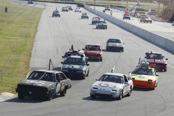 24-hours-of-lemons-race-variety of $500 cars racing on road course