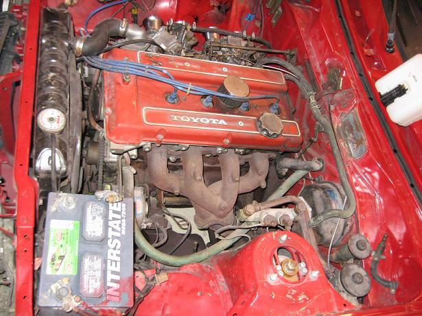 Toyota Celica 18R-G in disrepair