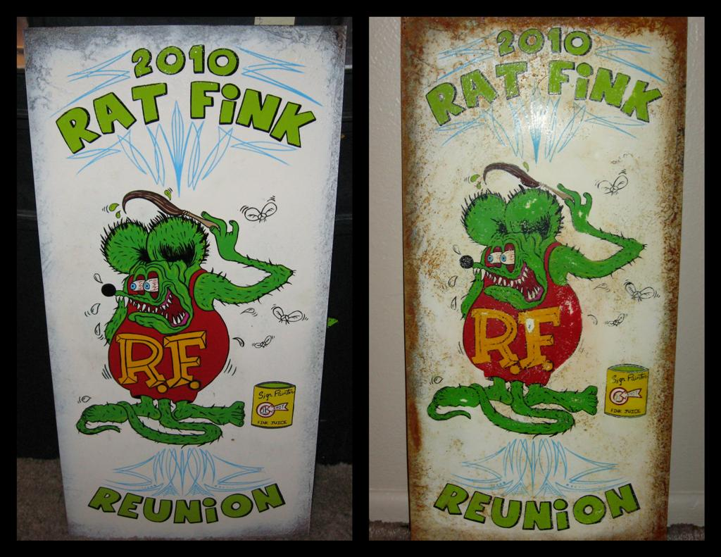 Rat Fink Reunion sign for the 2010 event