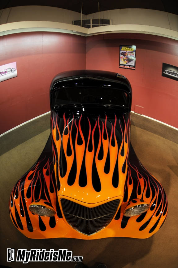 Flames on this cover car at Grand National Roadster Show