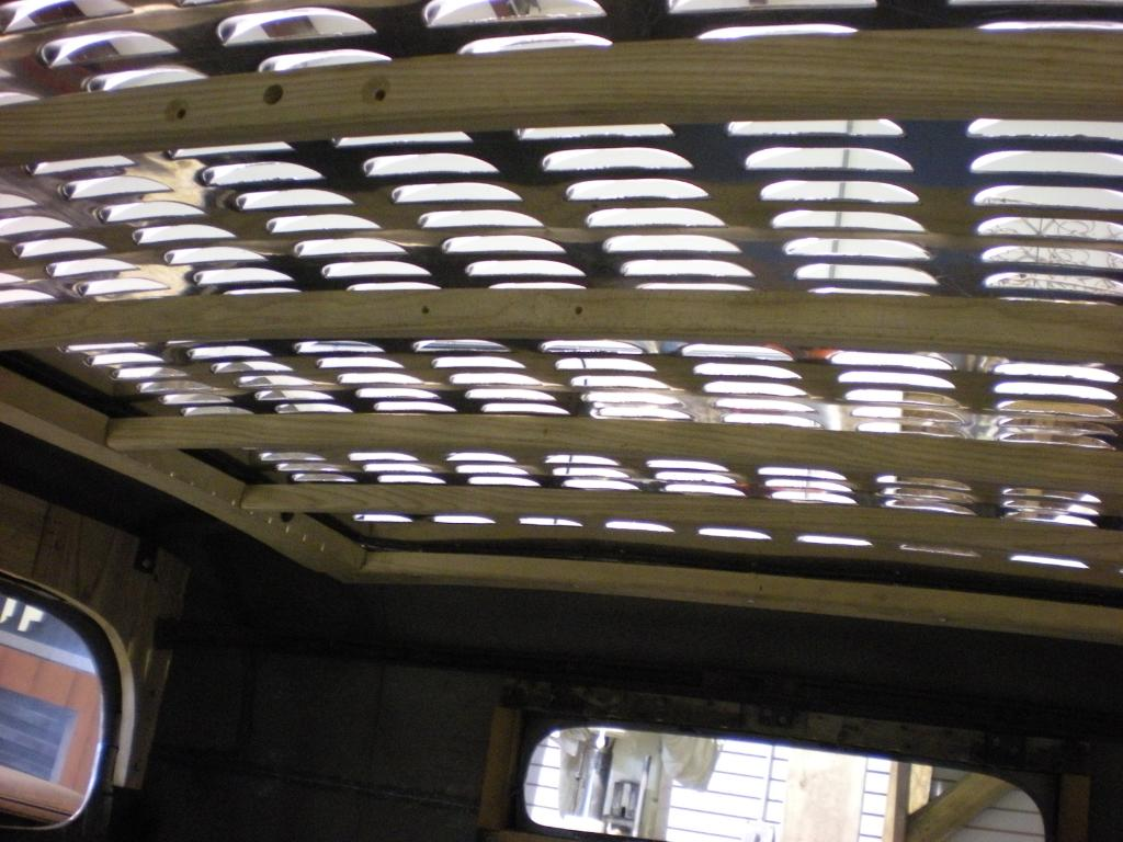 Interior view of the roof louver panel on Salt Flats Speed Shops '32