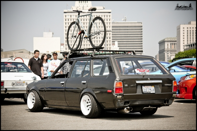 1980's Corolla wagon at in import show in California