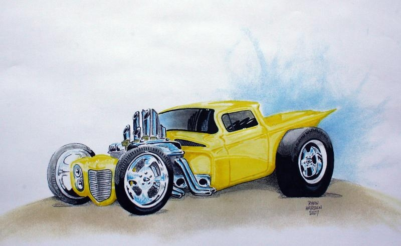 1959 El Camino custom car sketch