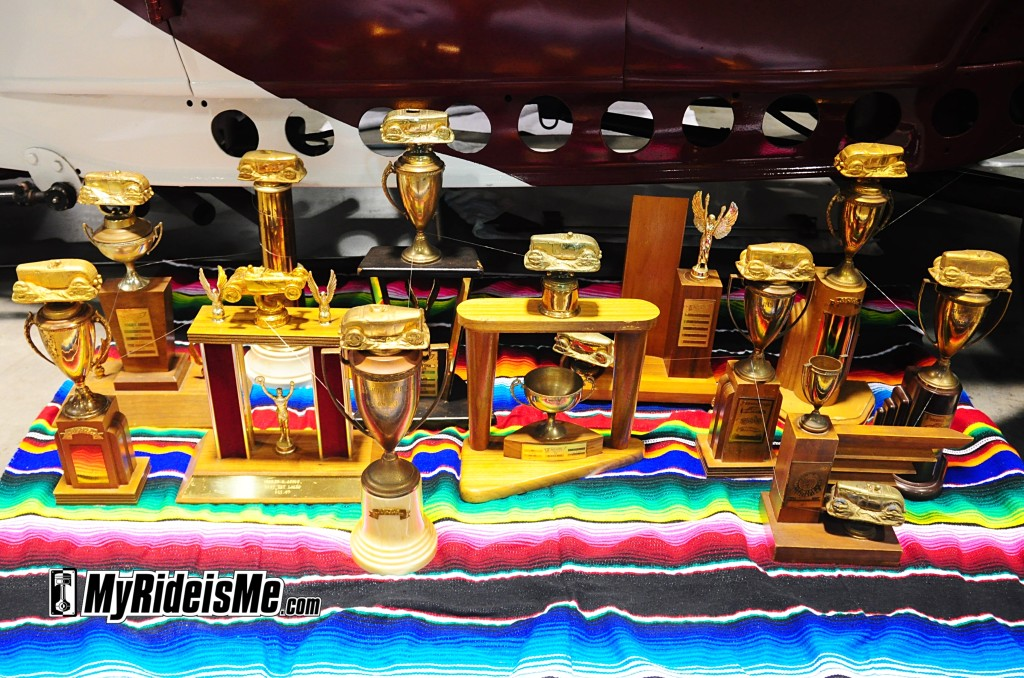 Drag Racing, trophies of metal and wood, grand national roadster show