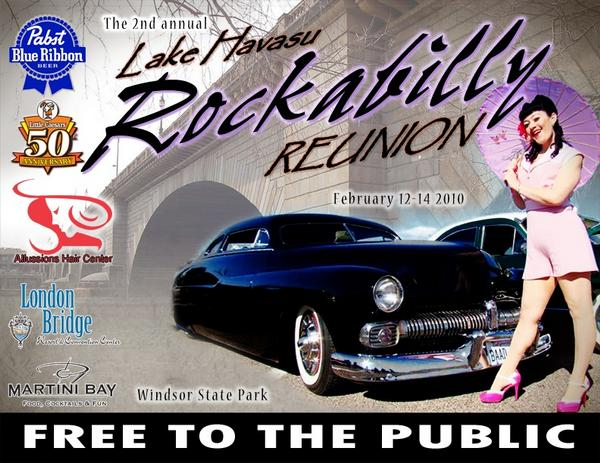 Rockabilly Reunion at Lake Havasu, hot rods, music, pinup models