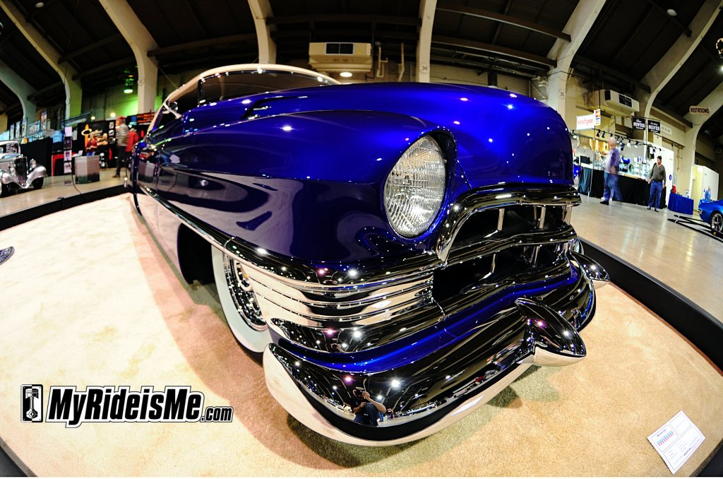 Slick blue custom in the main hall by Rick Dore Grand National Roadster Show