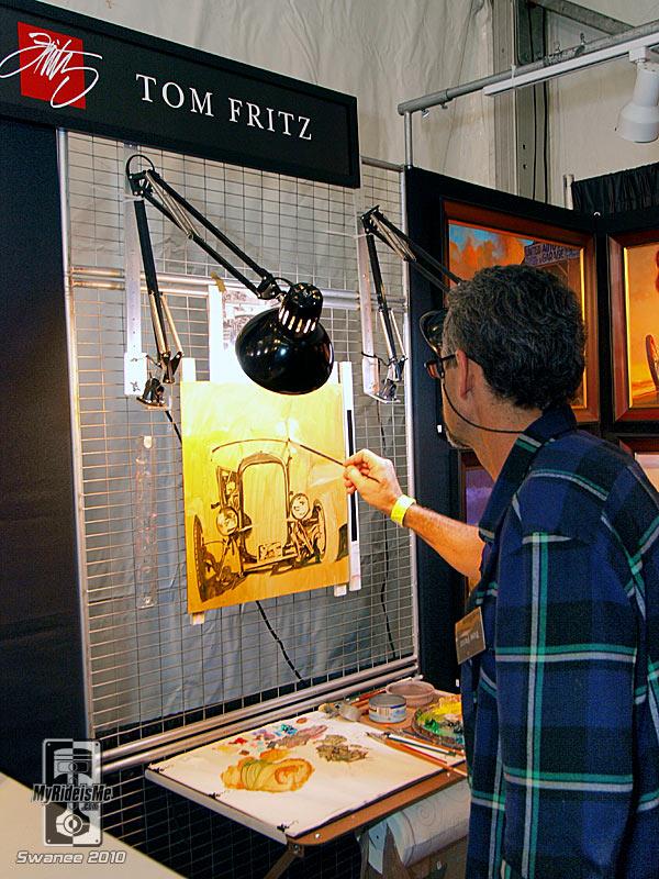 hot rod art, painting, painter, nostalgia, Barrett Jackson 2010