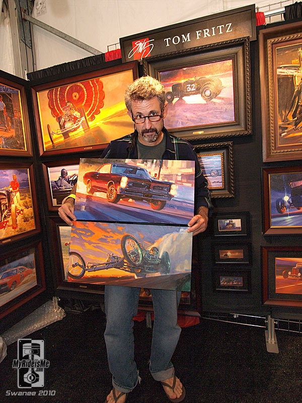 hot rod art, artist, painting, nostalgia dragster, Barrett Jackson
