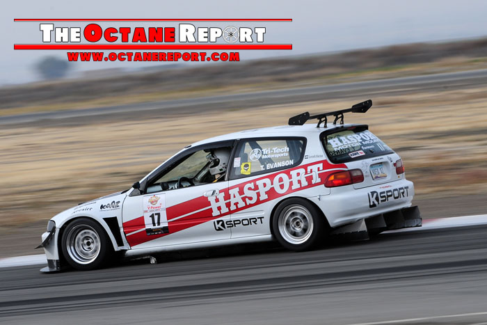 Octane Report photo of Tag Evanson racing at a Buttonwillow Super Lap Battle event