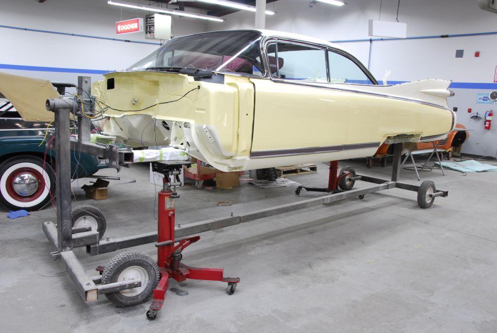 1959 Cadillac rotisserie restoration custom, kustom restore