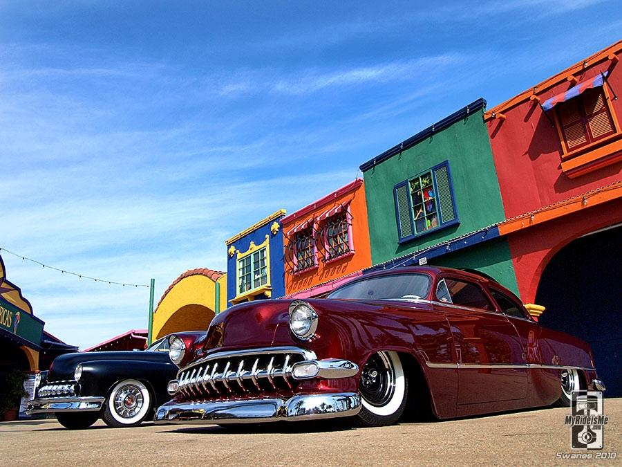 1954 Chevy and 1951 Merc Kustoms photo by Swanee
