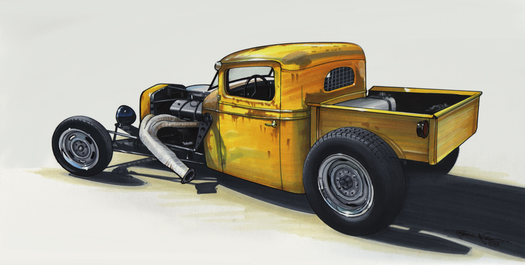 Heath's 1936 fenderless pickup sketch by 1320 Designs