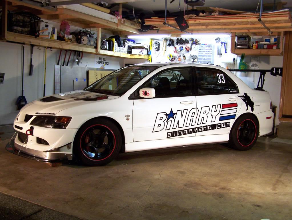 Binary Engineering EVO racecar paint scheme