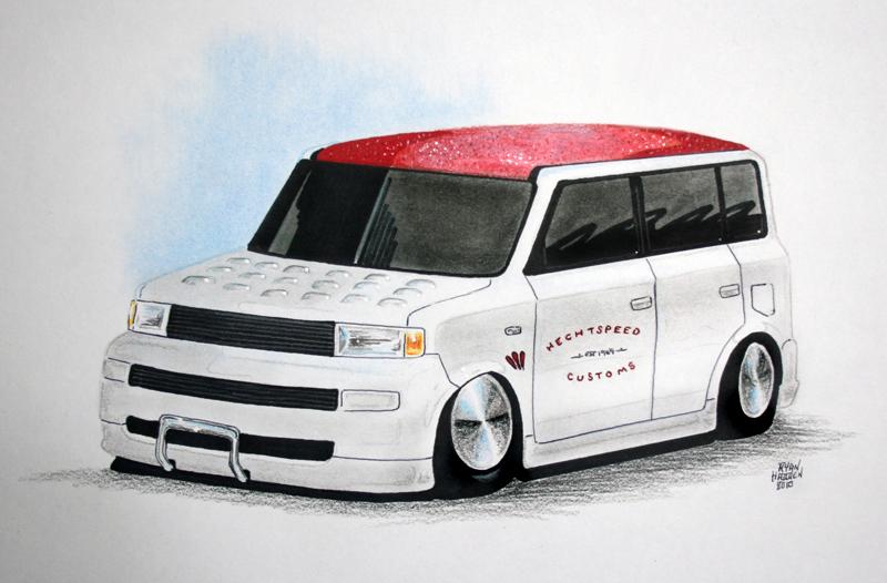 Hechtspeed's mild custom Scion xB rendering