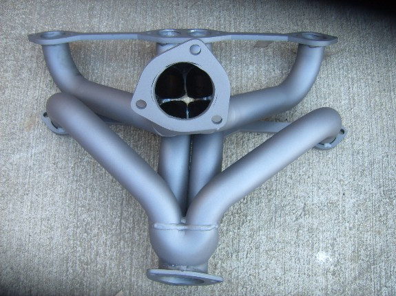 new.blockhugger.headers, custom exhaust, small block Chevy V8, B&C Industry