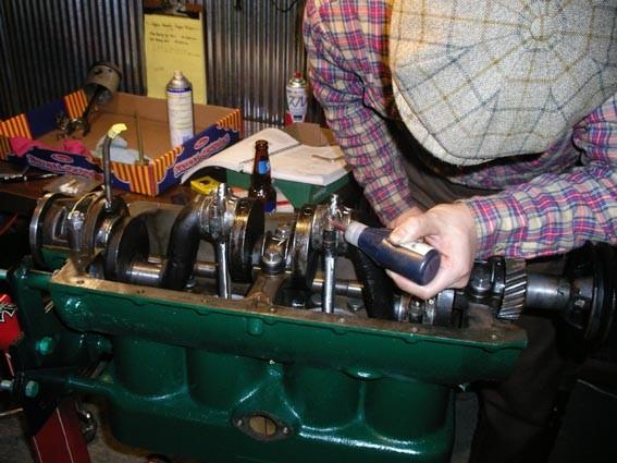 Ken Sakata assembling a motor at Trident Speed Shop