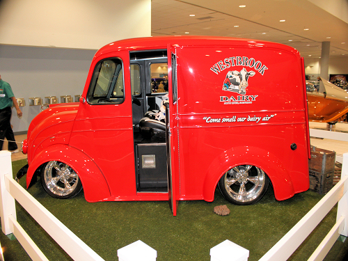 Hot Rod Westbrook Dairy Truck at Fresno Autorama