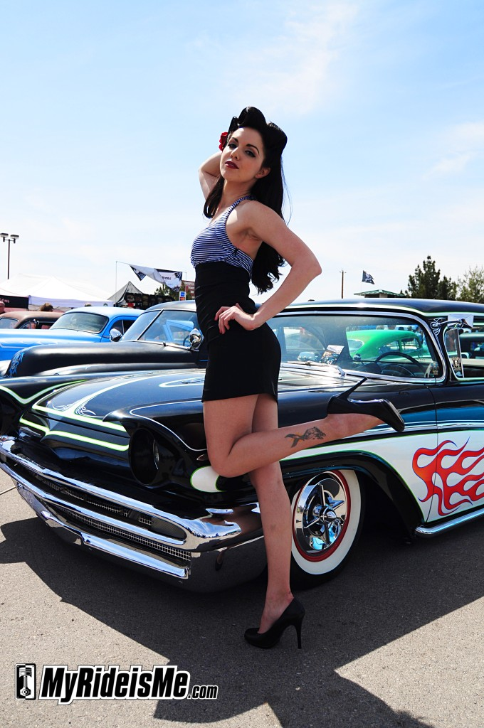 Notorious Ang Hot rod pinup with Paul Tracy's custom
