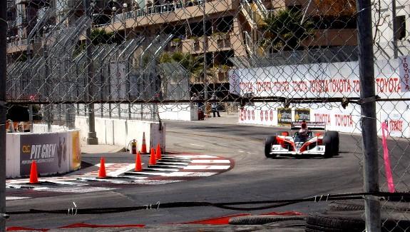 Winning IZOD Indy Car at 2010 Grand Prix of Long Beach #37 ryan hunter-reay