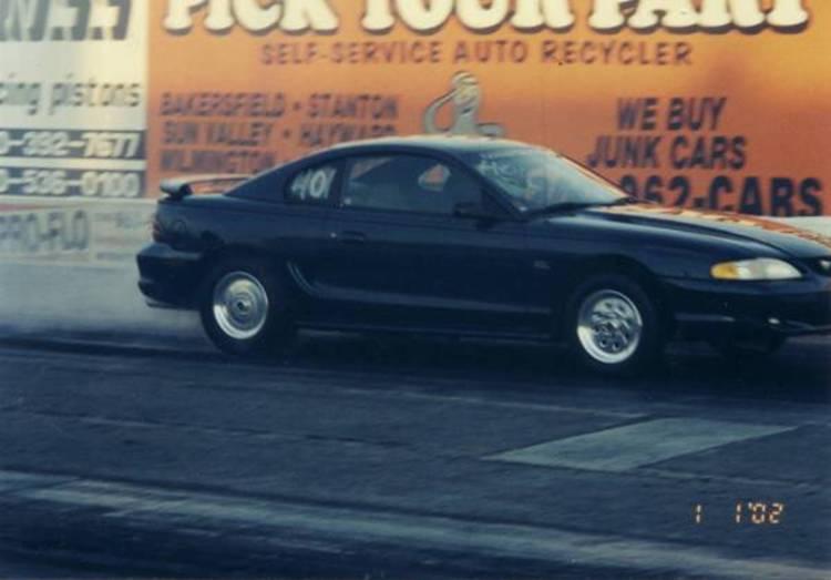 Mustang 5.0, SN95, drag strip, LACR, burnout