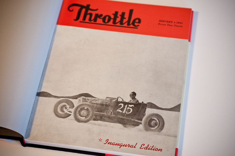 Throttle January 1941 Cover Page, lakes modified roadster #215