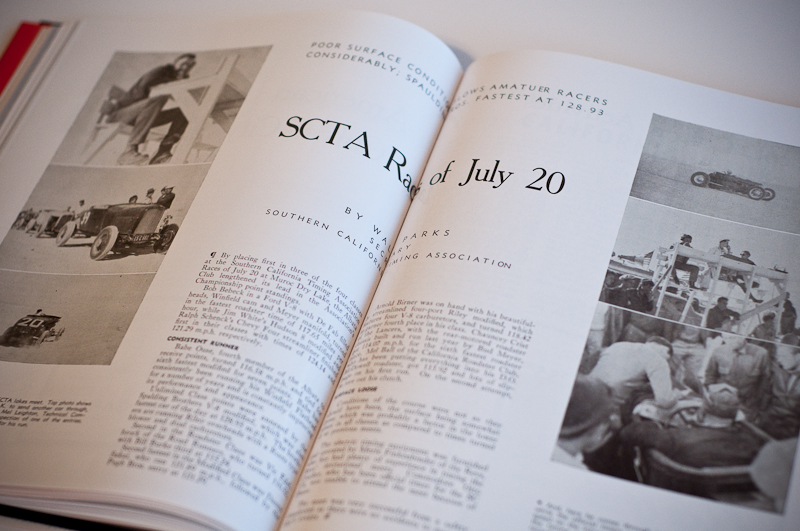 Throttle August 1941 issue, SCTA event by Wally Parks