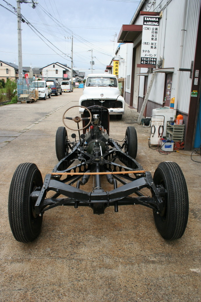 Ford model A frame built at Trident Speed Shop in Japan