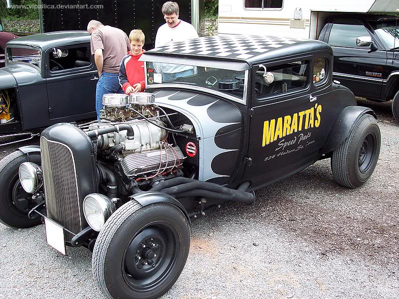 Maratta's Speed Parts shop hot rod 5 window coupe in Germany