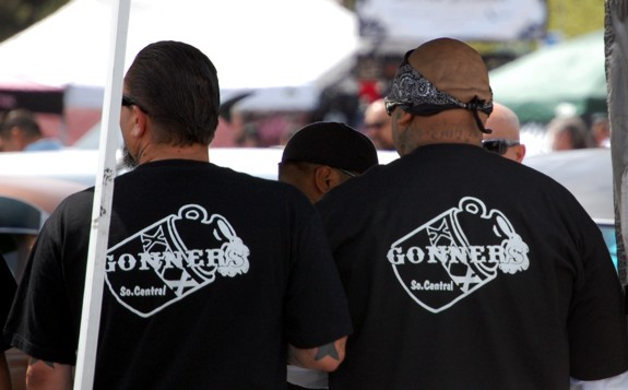 Gonners Car Club Guys at VLV 13 Shifters Car Show people  viva las vegas 2010