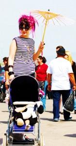 Punkabilly Mom at VLV 13 Shifters Car Show  viva las vegas 2010