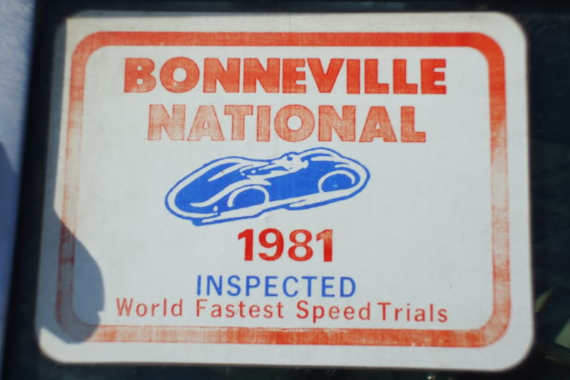 Burke Bros Avanti Bonneville Nationals 1981 Inspect sticker