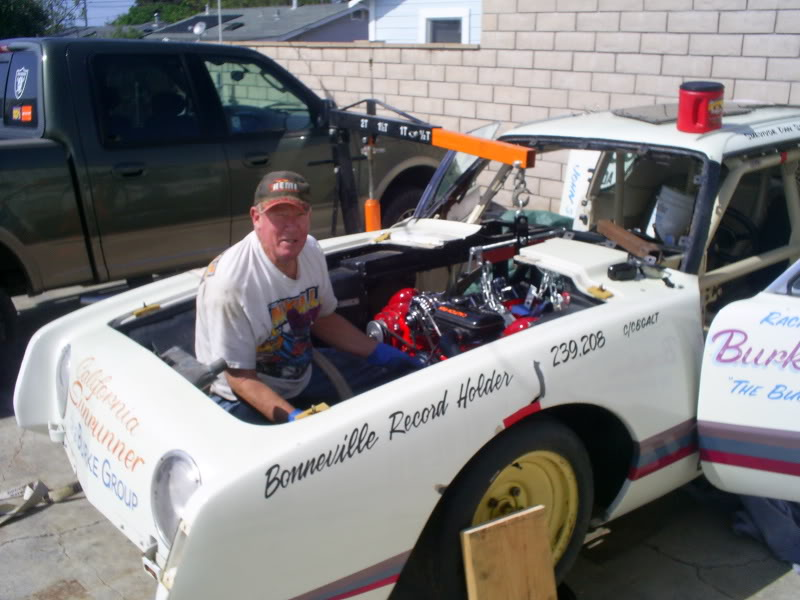 Dan and the 1962 Burke Bros Studebaker Avanti Bonneville land speed racer