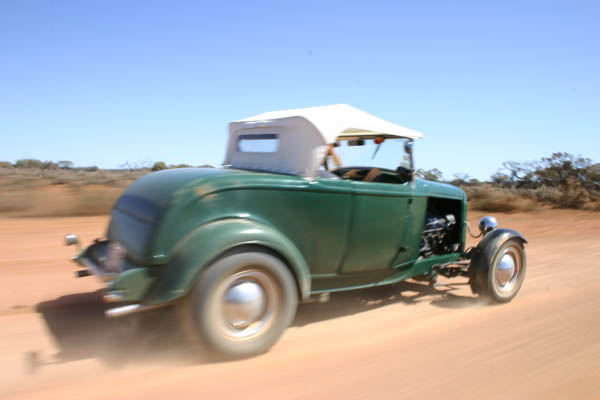 Hot Rod, 32 Ford roadster, Deuce Roadster, Lake Gairdner, Dry Lakes Racing, Australia