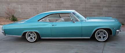Pinup Sabina Kelly's 1965 Impala