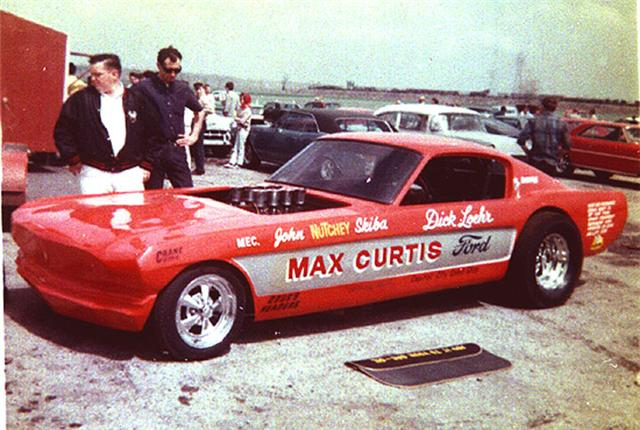 Max Curtis Long nose Mustang Funny Car at Irwindale