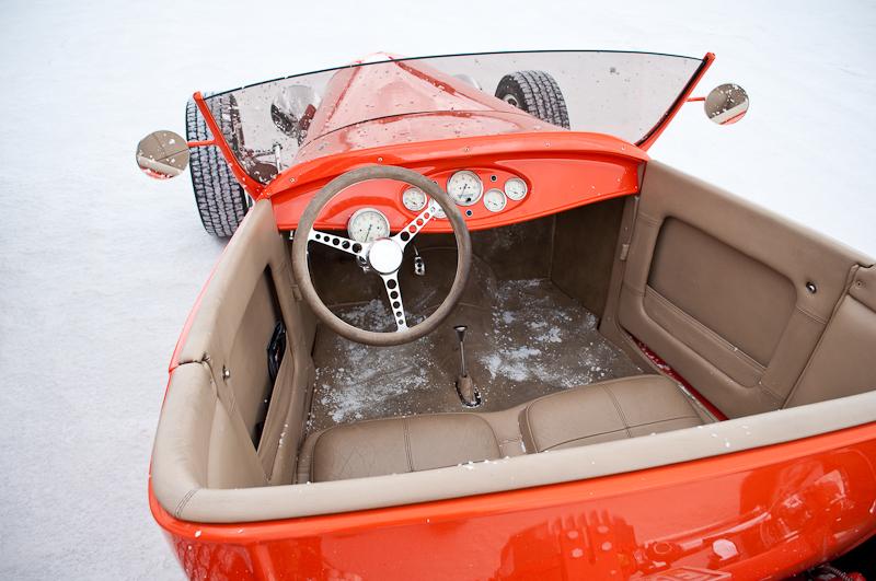 Custom hot rod, Ford roadster, Bonneville Salt Flats, Speedweek 2009