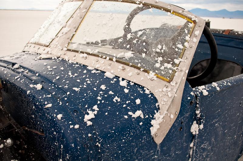 WWII windshield, lakes modified roadster, Speed Week 2009, Bonneville Salt Flats