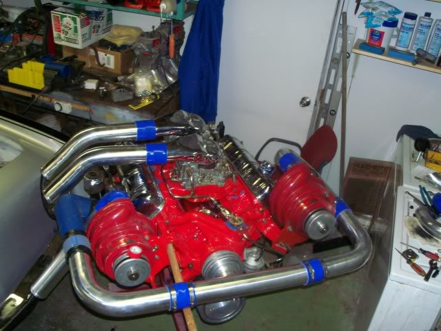 Twin supercharged 304 ci Avanti race engine