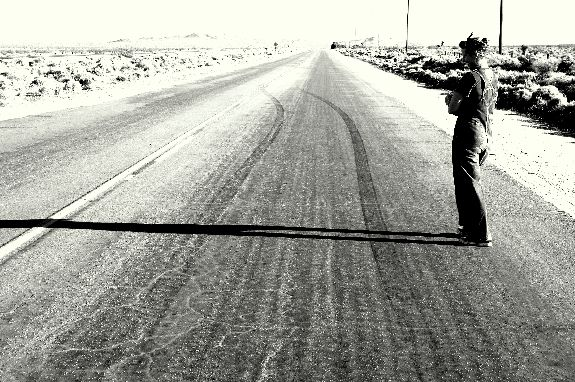 GreaseGirl Looks At Stude's First Burnout Tracks how to burnout girl burnout desert road